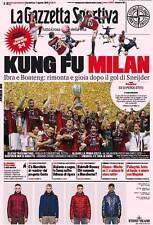 GAZZETTA DELLO SPORT 7 AGOSTO 2011 IL MILAN VINCE LA SUPERCOPPA ITALIANA