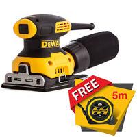 """DeWalt DWE6411 1/4"""" Sheet Palm Grip Sander 240V + Free Pocket Tape Measures 5M"""