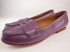 a0420b90102 SEBAGO Darling Classic Violet Patent Leather Penny Loafers Shoes Sz 10.5 M