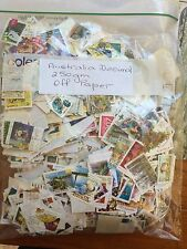 Aust Decimal Stamps Off Paper 250g  Mostly Letter Rate  1c to 60c,  Some $1 & $2