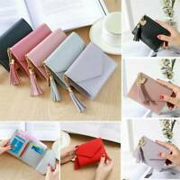 Women's Short Small Wallet Charms Folding Leather Coin Card Holder Money Purse