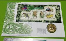 Malaysia 1997 StampWeek Wildlife Hidupan Liar Stamp + Nordic Gold Deer Coin FDC