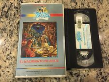 LA AVENTURA MAS GRANDE EL NACIMIENTO DE JESUS SPANISH VHS CHRISTIAN CARTOON HTF!