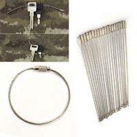 5/10/20Pcs New Stainless Steel Wire Keychain Cable Key Ring for Outdoor Hiking