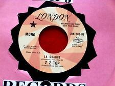 Z Z TOP~ LA GRANGE~ RARE PROMO~ VG+~ LONDON 203~ ~ ROCK  45
