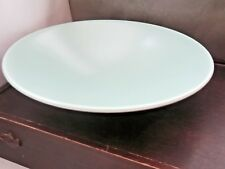 LARGE POOLE POTTERY TWIN TONE FRUIT / PASTA SERVING BOWL  IN ICE GREEN
