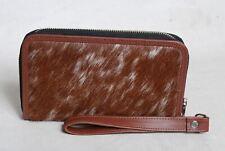 Cowhide Wallet for Women Zip Clutch Purse Clutch Wristlet Wallets  SA-3383