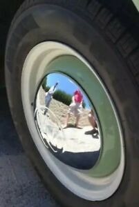 4 volkswagon bug bus karman ghia thing split oval window van BIG VW hub cap set