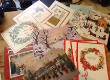 Vintage Christmas Greeting 17 Cards Unused Kansas Masonic Foundation