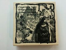 Coupe de la salle rubber stamp steampunk woman buildings queen francoise