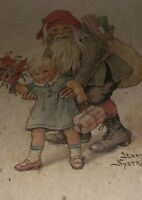 Jenny Nystrom Ellasson Father Christmas Santa Unposted Post Card Holiday