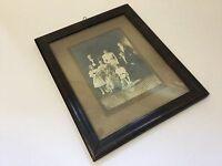Antique Sepia Photo Family Portrait Stoic 1912 Framed Edwardian Surname Sinski