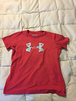 YOUTH UNDER ARMOUR LOOSE HEAT GEAR SHORT SLEEVE SHIRT SIZE SMALL!