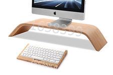 Wooden Stand Platform Riser + Keyboard holder For Apple iMac Pro LCD monitors