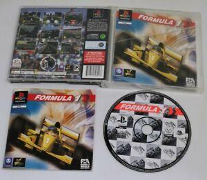 Formula One PS1 PlayStation 1 PAL Game Complete Black Label F1 Racer