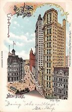 1905 Park Row Manhattan NY post card Lowey chromothitograph