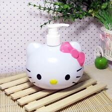 Hello Kitty Cat Squeeze Bottle Lotion Shower Portable Soap Dispenser Kids Girls