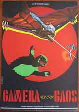 GAMERA VS GAOS (GYAOS) Rare Original 11x16 Czech Movie Poster Kaiju Godzilla