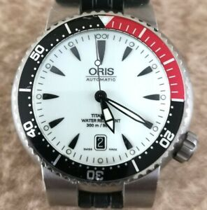 ORIS TT1 DIVERS Date Ref. 7562 TITANIUM Automatic LUMINOUS DIAL 44mm MENS Watch