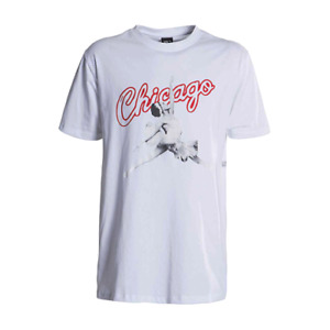 K1X Chicago Tee Men's White Red Black Sportswear Athletic Casual T-Shirt Top