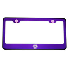 Purple Chrome Laser Etched Fiat Logo License Plate Frame T304 Stainless Steel