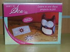BNIB-Learn to Sew Kit-The Craft Shop Range-Felt Owl Key Ring and Purse
