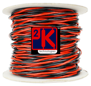 DCC Concepts DCW-TW50-3.5 DCC Layout Twisted Bus Wire 3.5mm x 50m Roll Red/Black