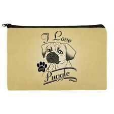 I Love My Puggle Makeup Cosmetic Bag Organizer Pouch