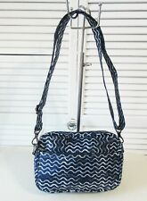 NWT  LUG CONVERTIBLE RFID CROSSBODY & BELT BAG - CAROUSEL 3, NAVY WAVE