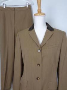Ann Taylor Loft Pant Suit Womens 10 Jacket 29 x 30.5 Pants Wool Blend NWT $218