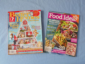 2 x Home/Lifestyle/Cooking Magazines - Better Homes & Gardens/Super Food Ideas
