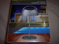 """New listing Outdoor Lamp Solar-Powered , Metallic Finish, 14"""" Tall, Durable,"""
