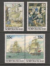 Norfolk Island #417-420a (A92) VF MNH 1987 - 5c to $1 Bicentennial Type 1986