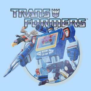 Transformers Soundwave T-Shirt Men's Size XL Baby Blue Official Licensed
