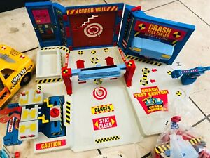 Vintage Crash Test Dummies Yellow Taxi and Test Centre Collection Playset