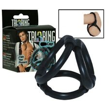 Tri 3 Ring Cage Penis Ring Erection Impotence Aid Sleeve Same Day p&p Sex Aid
