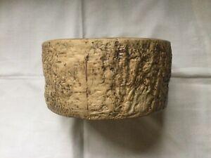 "Vintage Hillstonia Stoneware Tree Stump  'Moira' Pattern 7"" Diameter Planter"