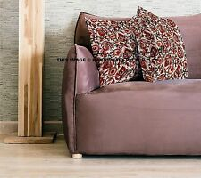 """Indian Cushion Cover Home Decorative Throw Pillow Block Printed Cotton Case 16"""""""