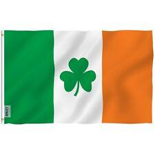 ANLEY Irish Shamrock Flag Ireland St Patrick's Clover Polyester 3x5 Foot Flags