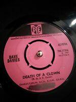 "Dave Davies – Death Of A Clown Vinyl 7"" Single UK PYE 7N 17536 1967"