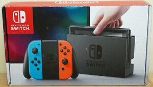 Nintendo Switch Neon Red/Blue Joy-Con System Console Original HAC-001 V1