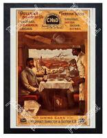 Historic Pullman Dining Cars 1900 Advertising Postcard