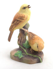 Royal Worcester Yellowhammers (On Stump) Bird Figurine RW3377 by Eva Soper