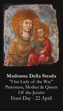 Madonna Della Strada Prayer Card (wallet size)