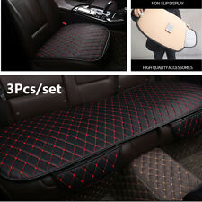 3Pcs Universal Breathable PU Leather Car Seat Cushion Cover Pad Four Seasons