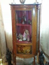 Remarkable 18-19c Louis XV Style French Curio with Oil Paintings around, France?
