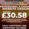 WEBSITE DESIGN TRUSTED BUSINESS - Domain, Hosting and Unlimited Emails Included