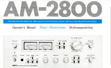 AKAI AM-2800 stereo integrated AMP Operator's manual imprimé en anglais