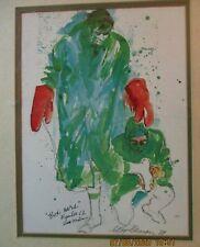 "Signed LeRoy Neiman 1969 Joe Namath ""Box Cars"" Number 12 Shea Stadium Serigraph"