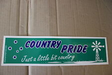 Country Pride Ute large green southern cross windmill bns B&S bar Sticker